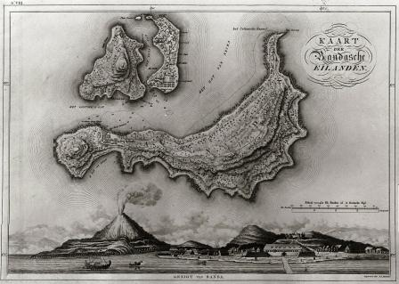 25_Map and View of Fort Belgica and the Banda_islands