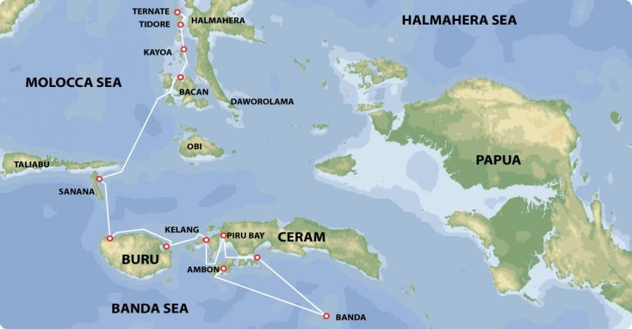 Ambon Island Map