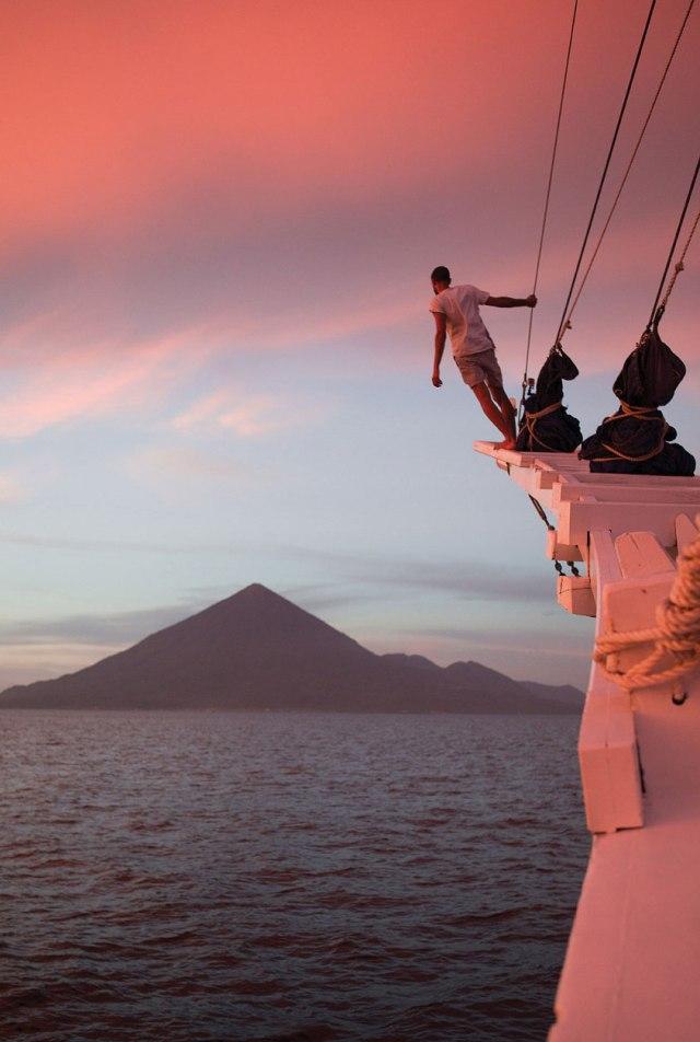 Approaching Tidore Island