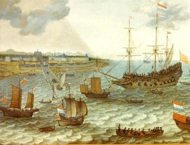 Batavia in 1649 by Adam Willaerts