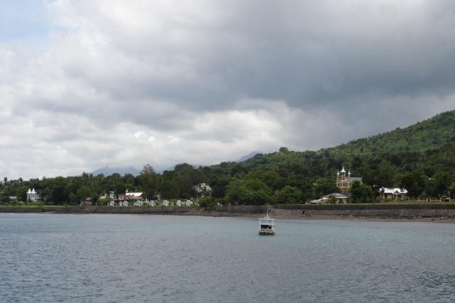 Churches along the waterfront in Larantuka