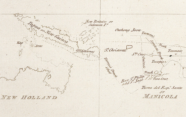 William Dalrymple 1764 Showing the Torres voyage