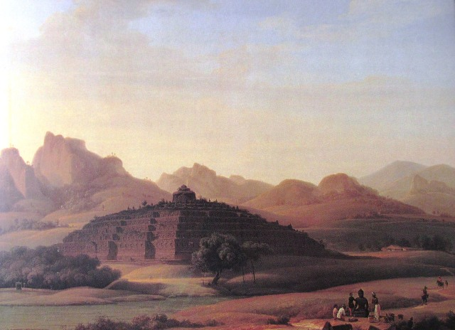 View of Borobodur, Antoine Payen, 1835