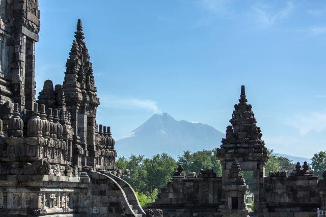 Merapi from Prambanan