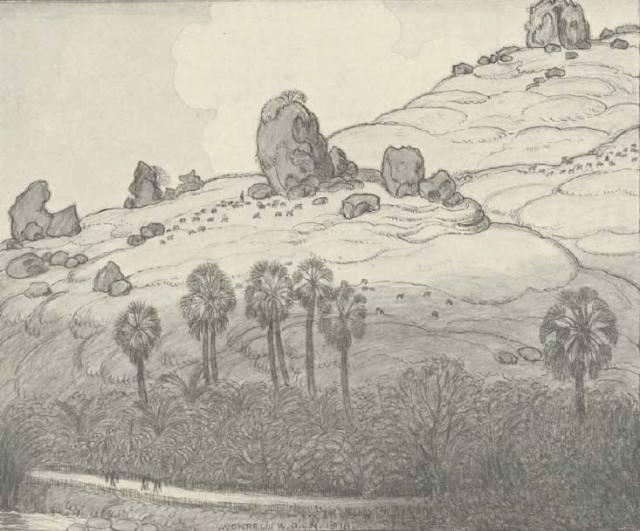 Landscape near Wonreli (W Nieuwenkamp) 1918