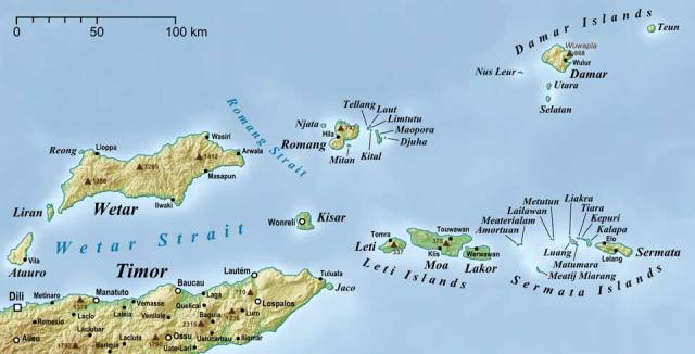 Map Forgotten Islands