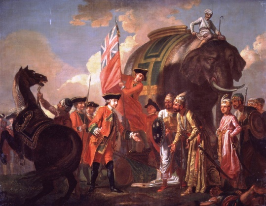 51_Robert Clive meeting Mir Jaffar after the Battle of Plassey