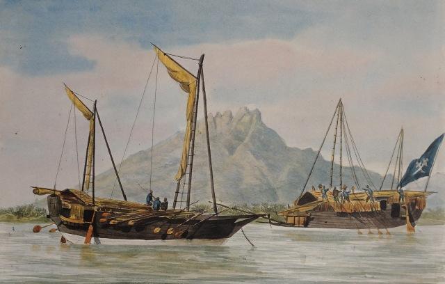 050 Paris Caboteurs de Macassar 1830 Admiral Francois-Edmund Paris Musee de Marine, Paris