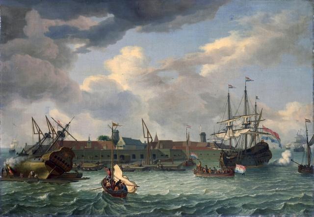 Het_eiland_Onrust_bij_Batavia_-_The_island_'Onrust'_near_Batavia_(Abraham_Storck,_1699)