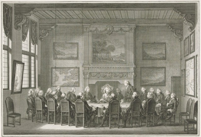 East India House Directors room Willem V 1768