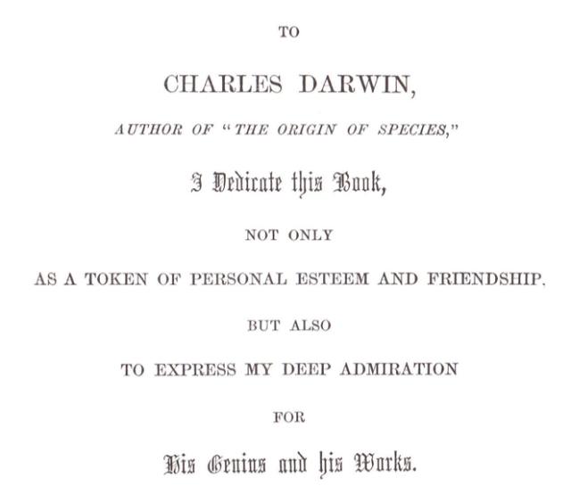 Darwin dedication
