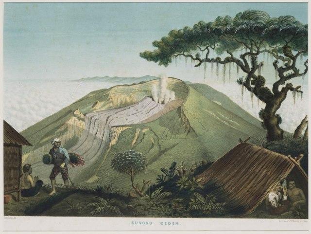 Gunung Gede KITLV_-_50H7_-_Junghuhn,_Franz_Wilhelm_(1809-1864)_-_Mieling,_C.W.