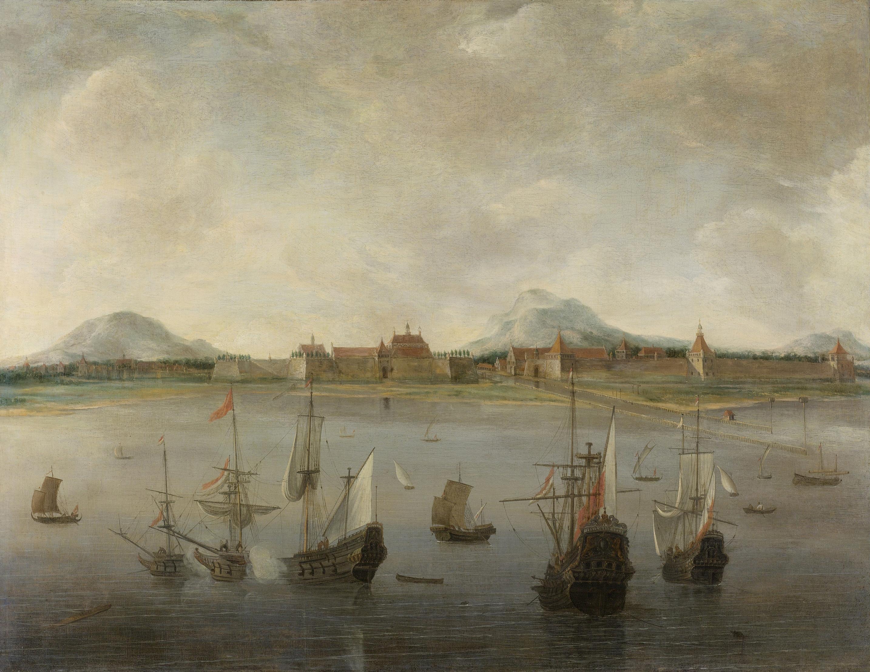 Hendrick Jacobz Dubbels_Gezicht_op_Batavia_Rijksmuseum_SK-A-2513
